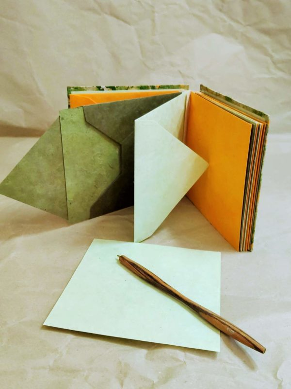 carnet messager enveloppe