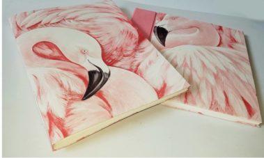 album-livre-or-flamant-rose