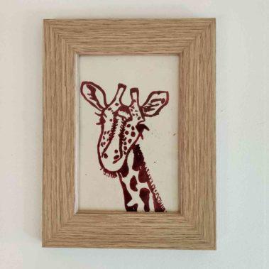 linogravure girafe