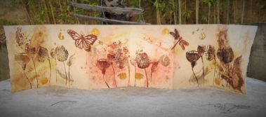 livre artiste ecoprint linogravure