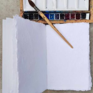 carnet aquarelle ecoprint