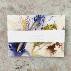leporello aquarelle ecoprint