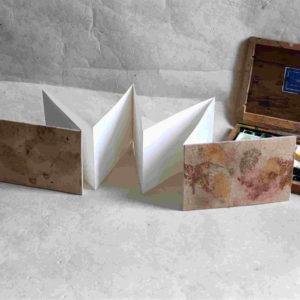leporello ecoprint aquarelle