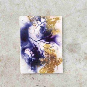 leporello aquarelle ecoprint