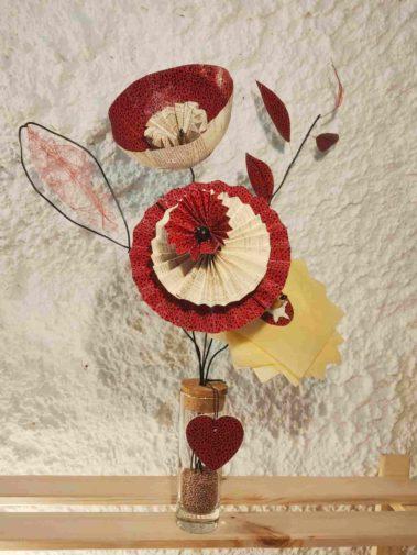 bouquet fleur papier