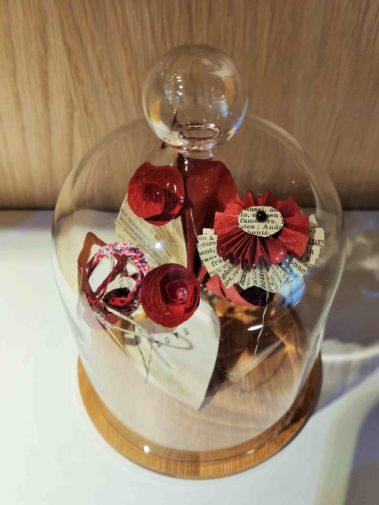 coupole fleurs de papier