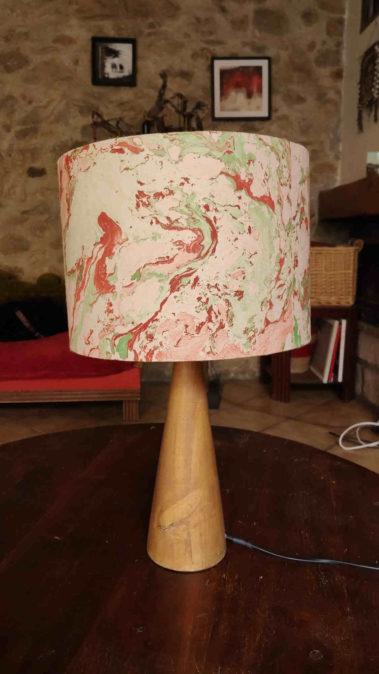 lampe encres flottantes